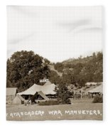 At Atascadero War Manuevers Circa 1915 Fleece Blanket