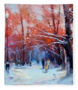 At Dawn On Tverskoy Boulevard Fleece Blanket