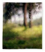 At Menashe Forest Fleece Blanket