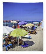 At Mondello Beach - Sicily Fleece Blanket