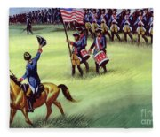 At Saratoga The Colonists Won Victory Fleece Blanket