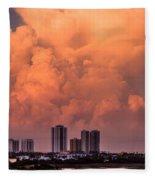 At Sunset In West Palm Beach Fleece Blanket