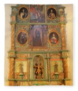 At The Alter San Miguel Mission Santa Fe New Mexico Fleece Blanket