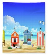 At The Beach Fleece Blanket