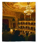 At The Budapest Opera House Fleece Blanket