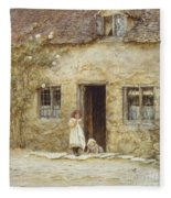 At The Cottage Door Fleece Blanket