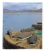 At The Dock Fleece Blanket