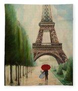 At The Eiffel Tower Fleece Blanket
