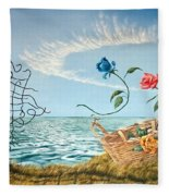 At The End Of The Fence I Am Free Fleece Blanket