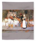 at the florist 1889 Childe Frederick Hassam Fleece Blanket