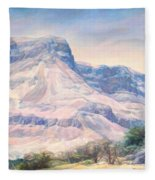 At The Foot Of Mountains Fleece Blanket