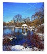 At The Frozen Lake Fleece Blanket