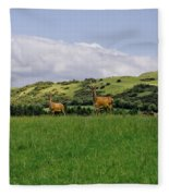 At The Hill Bottom. Fleece Blanket