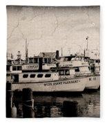 At The Marina - Jersey Shore Fleece Blanket