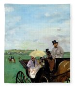 At The Races In The Countryside,  Fleece Blanket