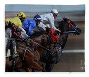 At The Racetrack 1 Fleece Blanket