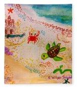 At The Seashore Fleece Blanket