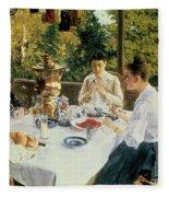 At The Tea-table Fleece Blanket