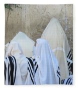 At The Western Wall Fleece Blanket