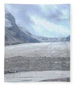 Athabasca Glacier, Jasper National Park Fleece Blanket