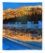 Athabasca River Glow Fleece Blanket