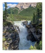 Athabaska Falls, Mt. Hardisty Fleece Blanket
