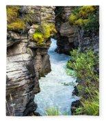 Athabaska River Slot Canyon Fleece Blanket