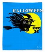 Atheist Halloween Witch Fleece Blanket