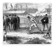 Athletics: Shot Put, 1875 Fleece Blanket