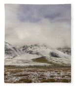 Atigun Pass Brooks Range Alaska Fleece Blanket