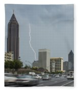 Atlanta Daytime Lightning Fleece Blanket