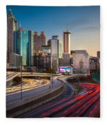 Atlanta Downtown Lights Fleece Blanket