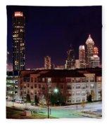Atlanta From Above Fleece Blanket
