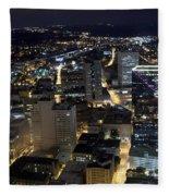 Atlanta Georgia At Night Fleece Blanket