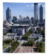 Atlanta Georgia Skyline Fleece Blanket