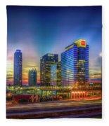 Atlanta Midtown Atlantic Station Starburst Atllanta Georgia Art Fleece Blanket