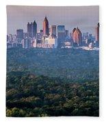Atlanta Skyline Fleece Blanket