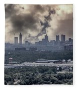 Atlanta Skyline Panoramic Fleece Blanket