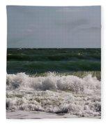 Atlantic - Beach - Waves Fleece Blanket