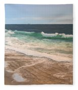 Atlantic Beach Waves Fleece Blanket