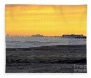 Atlantic City At Dusk Fleece Blanket