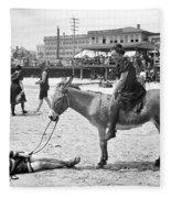 Atlantic City: Donkey Fleece Blanket