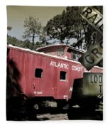 Atlantic Coast  Line Railroad Carriage Fleece Blanket