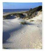 Atlantic Ocean Sand Dunes Fleece Blanket