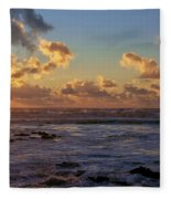 Atlantic Sunset Fleece Blanket