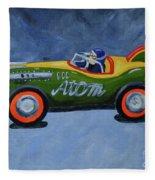 Atom Racer  Fleece Blanket