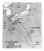 Atomic Bombing Of Japan, 1945 Fleece Blanket