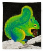 Atomic Squirrel Fleece Blanket