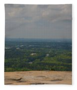 Atop Of Stone Mountain Fleece Blanket