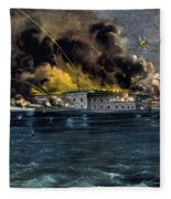 Attack On Fort Sumter Fleece Blanket